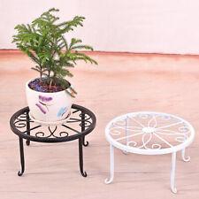 Plant Stand Floor Flower Pot Round Iron Rack Garden Indoor Balcony Decor USA