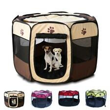 UK Oxford Large Pet Dog Cat Playpen Tent Portable Sport Fence Kennel Cage Crate