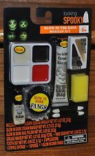 Halloween Glow-In-The-Dark Makeup Kit Fangs Nail Polish Scar Costume Party NEW