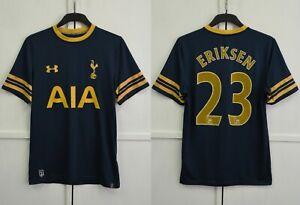 RARE! Tottenham Hotspur Eriksen 2016/2017 Away Navy Shirt Soccer Jersey Size M