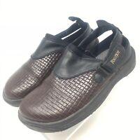 Footjoy Sandals 98667 Brown Black Leather Clogs Sandals Womens Size 9M Golf Shoe