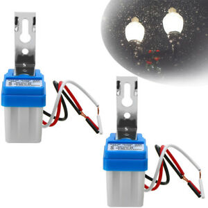 2pack 12V 10A LED Auto On Off Street Photocell Light Switch Photo Control Sensor