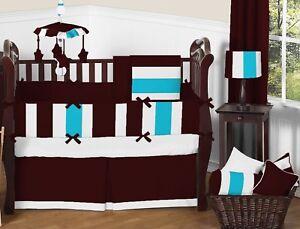 Mini Crib Patchwork Bedding Set Fitted Skirt Comforter Pillowcase Bumper