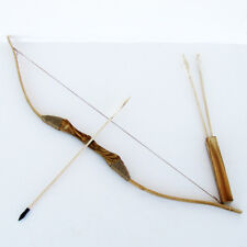 Wooden Bow and Arrow W Quiver Set 3 Pack Arrows Wood Youth Archery Hunting  Toy 9bc697f96