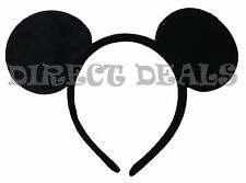 Mickey Mouse Ears Headband All Black Plush Party Favors Halloween Costume Minnie