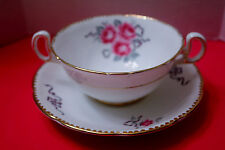 "ROYAL STAFFORD ""CAMEO ROSE""  SOUP CREAMER & PLATE  REMARKABLE CONDITION"