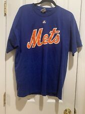 MAJESTIC NEW YORK METS IKE DAVIS MENS T-SHIRT SIZE EXTRA LARGE XL BLUE MLB