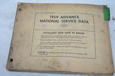 1959 National Service Data Part Numbers Manual Guide Repair Book Vintage Binder