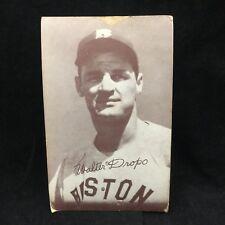 """VINTAGE 1947-1956 EXHIBIT WALTER """"WALT"""" DROPO MOOSE BOSTON RED SOX-3.25 x 5.25"""""""