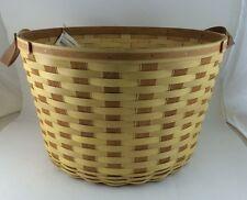 "Longaberger Work Around Basket Butternut 20""D"