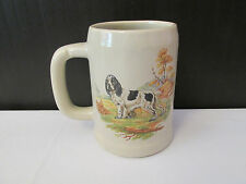 Vintage Collectable McCoy Art Pottery Cocker Spaniel Beer Stein / Tankard