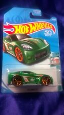 Hot Wheels C6 Corvette Tooned #3/5 Green Die-Cast 1:64 Scale Copper Rim Tires