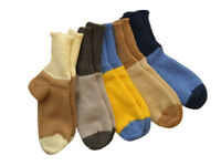 Socks 100% MERINO WOOL children boy girl unisex hand knitted leg warmers smart