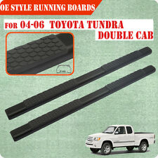 """Fit 04-06 Toyota Tundra Double  cab 5"""" Blk Running Board Side Step Nerf Bar"""