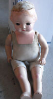 """Vintage 1920s Effanbee Composition Cloth Girl Character Doll 14"""" Tall"""