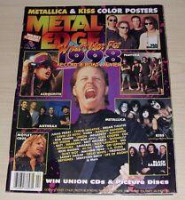 METAL EDGE MAGAZINE APRIL 1998 METALLICA KISS PANTERA TYPE O NEGATIVE VAN HALEN
