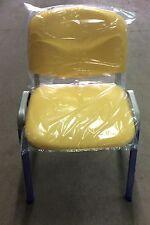 Sedia fissa da ufficio in finta pelle sky giallo offerta acquisto minimo 6 pezzi