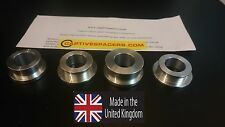 Kawasaki ZX10 ZX10R 2004 - 2005 Captive wheel spacers. Full set. Silver.