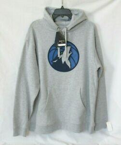 Minnesota TIMBERWOLVES Fanatics Hoodie Men's XL Branded Logo Gray Team Pullover