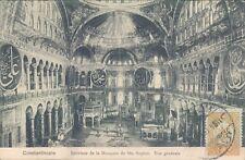 TURKEY Constantinople Ste Sophie interior general view 1910s PC