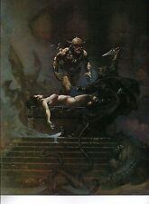 "1980 Full Color Plate ""Sacrifice"" by Frank Frazetta Fantastic GGA"