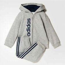 adidas infant boys grey/navy tracksuit. Jogging suit. Various sizes!