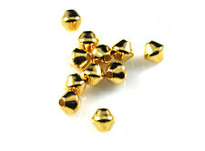 25 Gold Plated Metal Double Cone Spacer Beads 4MM