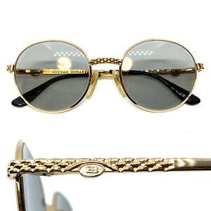 1980s ETTORE BUGATTI [EB 508 GOLD]  Vintage Eyeglasses Sunglasses MIGOS 21217