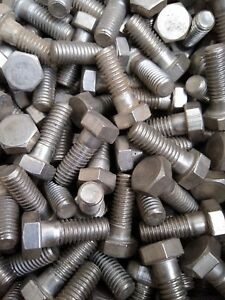"""BSW 1"""" X 3/8"""" Whitworth Hex Bolt stainless steel.Qty12"""