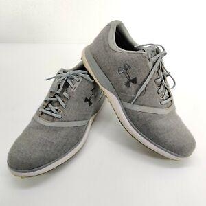 UA Performance SL Sunbrella Spikeless Golf Shoes Men's Sz 12 Grey 3020064-102