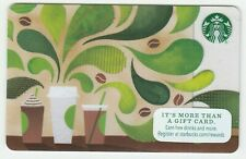 Starbucks collectible gift card no value mint #074 Three Drinks with Green