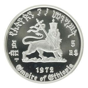 Ethiopia - Silver 5 Birr Coin - 'Hailé Selassié I' - 1972 - Proof