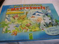 Mein Puzzlebuch Meereswelt 6 Puzzles mit je 48 Teile Spielen u. lernen Kinder