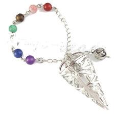 Large Moldavite Crystal Chakra Healing Cage Pendulum 2 x 10mm Pieces = Ascension