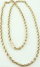Antiguo Victoriano de 18 pulgadas de largo Collar de Cadena de oro 9ct pesa 7.4 gramos