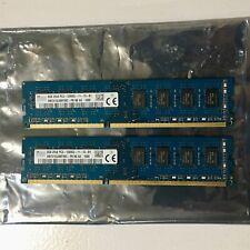 New listing (2x) Sk Hynix 8Gb 2Rx8 Pc3-12800U Hmt41Gu6Bfr8C-Pb Ddr3 Desktop Memory Ram