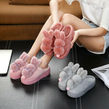 Cute Platform Women Rabbit Cartoon Slipper House Shoes Ladies Novelty Slippers