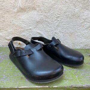 Birkenstock Tokio Supergrip Women's 8-8.5 Eur 39 Wide Black Leather