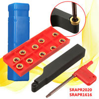 SRAPR1616/SRAPR2020 Face Milling External Lathe Blade Holder +10pcs RPMT10T3MO