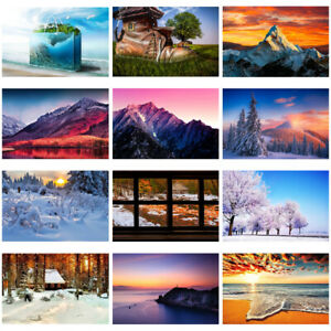 36*24inch Landscape Art Painting Canvas Printed Poster Home Wall Decoration