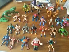 23 80s He-Man MOTU action figures and vehicles lot, Whiplash, Clawful, Stinkor..