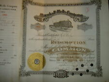 Marshall -Wells Company  1920's  Free Shipping !!