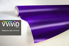 VVIVID8 purple chrome satin matte car wrap vinyl 2ft x5ft conform stretch 3MIL