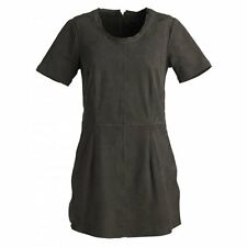 New Muubaa Lantana Suede T-Shirt Dress in Pyrite Grey size 10 uk rrp £249.00