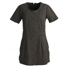 New Muubaa Lantana Suede T-Shirt Dress in Pyrite Grey size 10 uk rrp £249.00