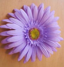 "4.5"" Light Lavender Gerbera Daisy Silk Flower Hair Clip"