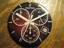 Festina Multifunction Mens Black Wristwatch Watch Advertisement Lapel Button Pin