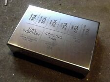 Stainless steel fuse box lid cover.  Mazda MX-5 mk1 1.6 & 1.8, polished s/s, MX5