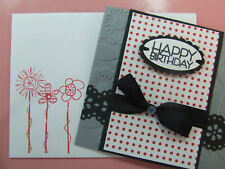 Handmade BIRTHDAY Card Using STAMPIN UP Bling Sizzix EMBOSSED