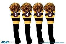 YELLOW hybrid headcover New BLACK # 3 4 5 6 KNIT Rescue golf club Head cover Set